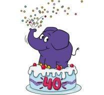 Der Elefant wird 40!