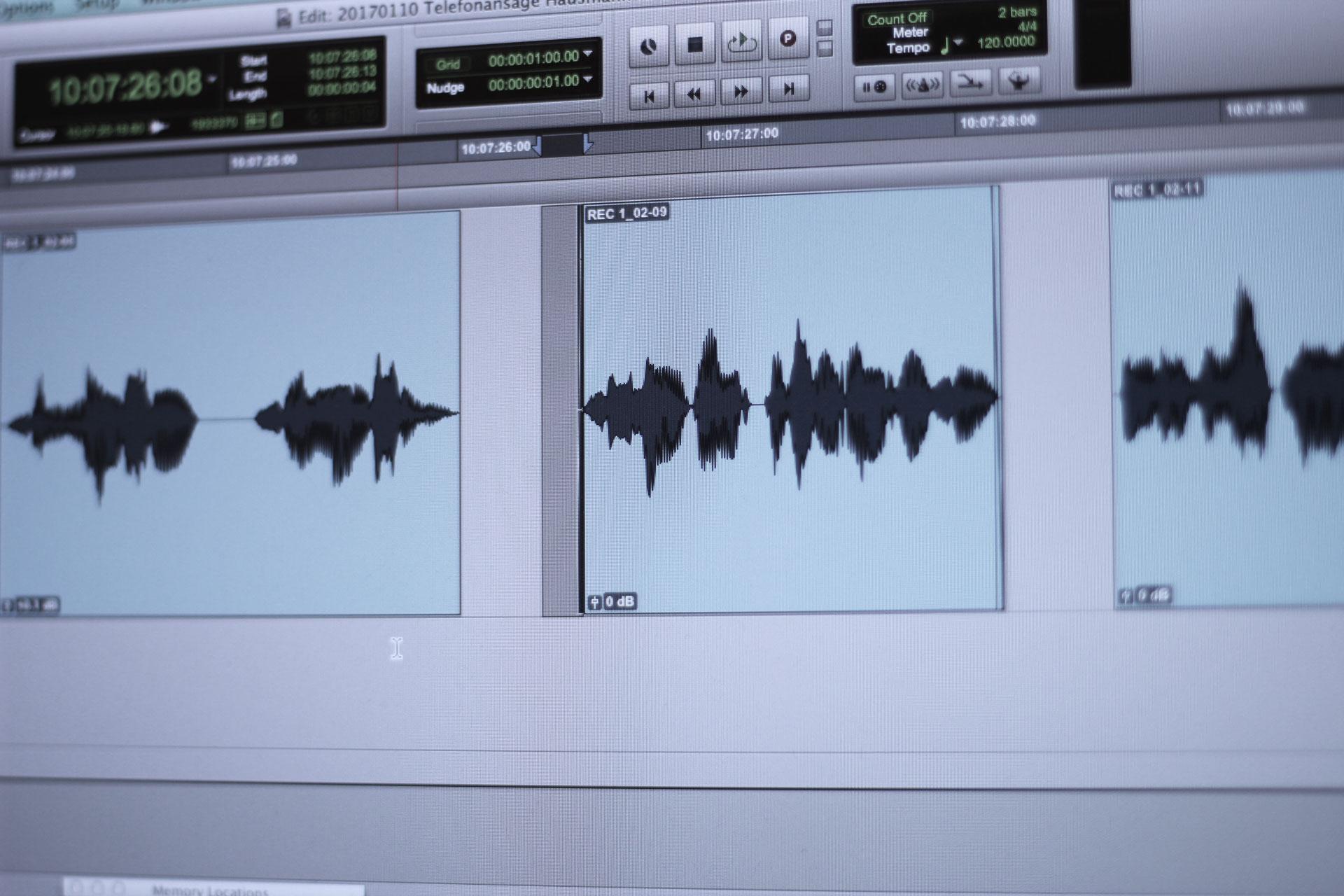 O-Ton Bearbeitung bzw. Sound Editing in Köln