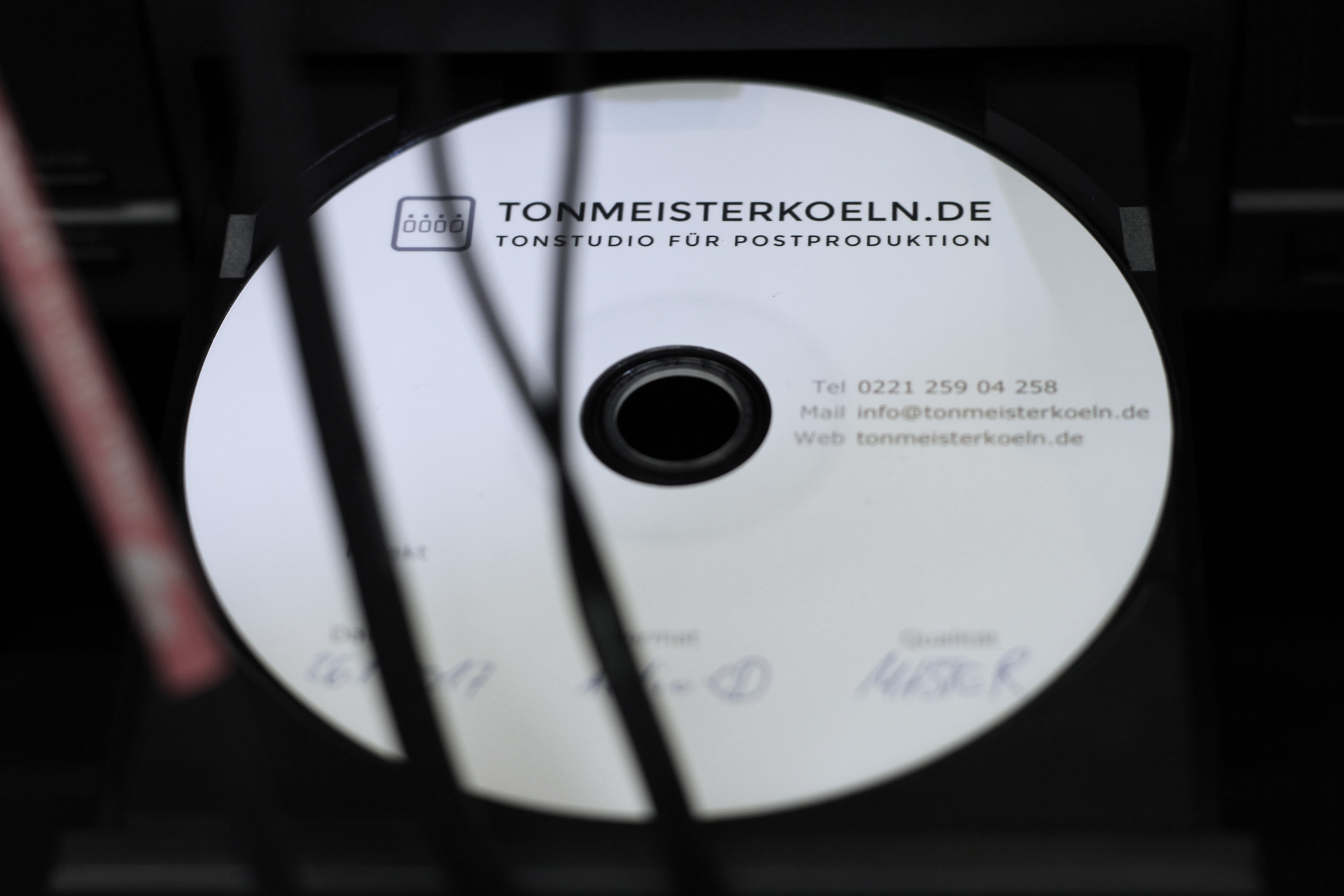 Erstellen von Presswerktauglichen CD Mastern und DDP Images Köln